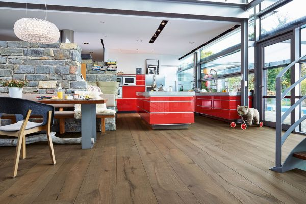 Fußboden Echtholzboden Linduraboden HD 300 Eiche Lehmgrau - rustikal, Oberfläche naturgeölt von Meister