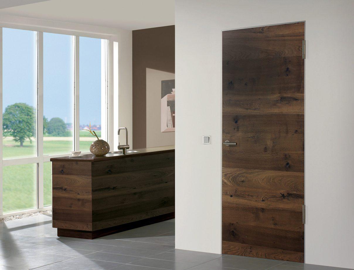 Türen Türelement Modell FACHWERK, Holzart Eiche Bronze - Türen -Echtholztüren von HGM