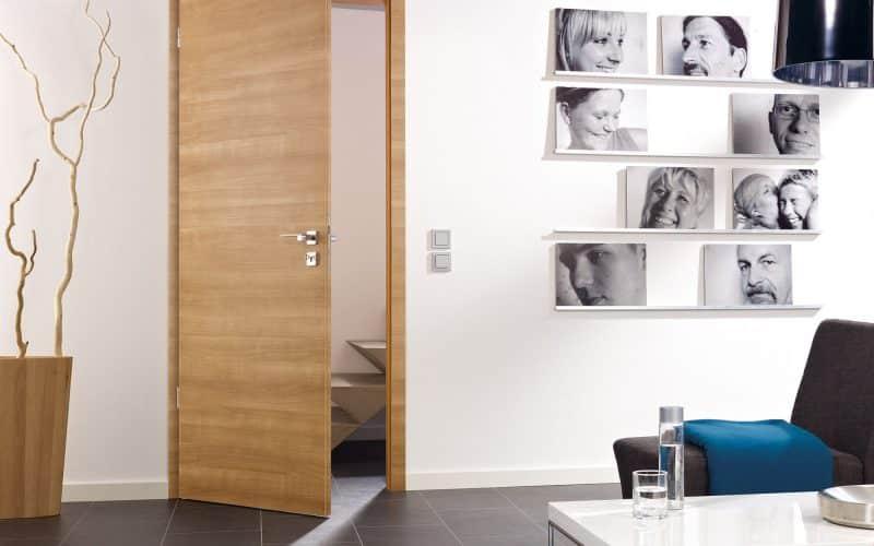 Türen Türelement Modell glatt smart2kante, Oberfläche Morena-Kirsche quer CPL - Türen - Dekortüren von Astra