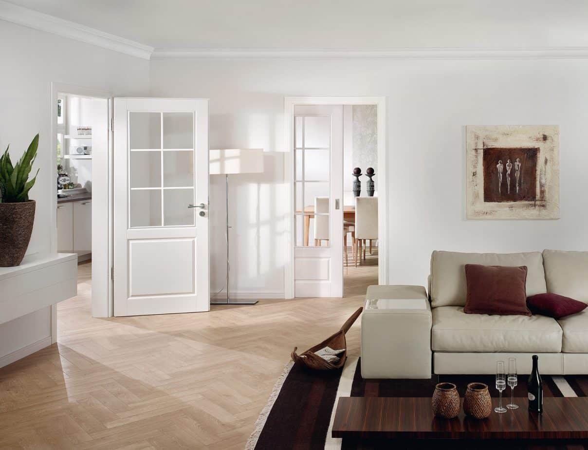 Türen Türelement Modell Park Lane Typ 2220 mit LA SPR - Oberfläche Lack RAL9010 - Türen - Weißlacktüren von HGM